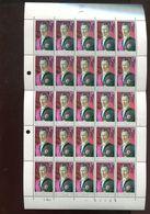 Belgie 1965 1351 Lebeau Painting FULL SHEET Plaatnummer 4 - Full Sheets