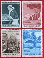 SEE PICS  Papst Pavol VI Bethlehem Jerusalem Nazareth 1964 Mi 442-445 Yv 393-396 POSTFRIS MNH VATICANO VATICAN VATICAAN - Neufs