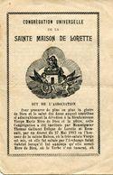 IMAGE PIEUSE / SAINTE MAISON DE LORETTE / 1902 / La Santa Casa / Holy House - Vecchi Documenti