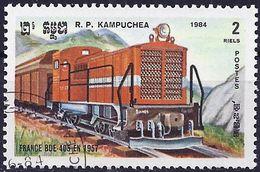 Kampuchea 1984 - Mi 589 - YT 468 ( French Locomotive BDE-405 ) - Kampuchea