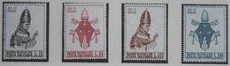 COURONNEMENT DE PAUL VI 1963 Mi 432-435 Yv 383-386 POSTFRIS / MNH / ** VATICANO VATICAN VATICAAN - Neufs