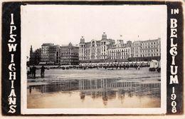 CPA -  Belgique, OSTENDE / OOSTENDE,  La Digue Er Les Hotels., Carte Photo 1908 - Oostende