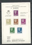 Norway Exhibition Sheetlet, (not Valid For Postage,  Bergen Attifem - Proofs & Reprints