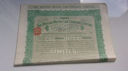 THE BRITISH MOTOR CAB COMPANY (1920) - Shareholdings