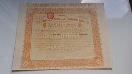 THE BRITISH MOTOR CAB COMPANY (1914) - Shareholdings