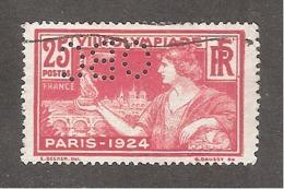Perforé/perfin/lochung France No 184 OBC Orosdi Back - France