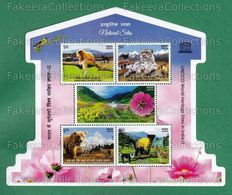 INDIA 2020 Inde Indien - UNESCO WORLD HERITAGE SITES 5v M.S / Miniature Sheet MNH ** Odd Shape - Wildlife, Nature - Autres