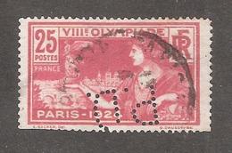 Perforé/perfin/lochung France No 184 P.D. Pneumatiques Dunlop - France