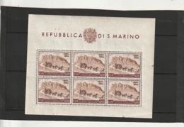 SAN MARINO Neuf Luxe  Bloc 75 Eime Anniversaire De L'Union Postale Universelle N°342 Bloc 4A **  Côte 400€ - Unused Stamps