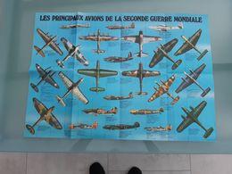 Poster : Les Principaux Avions De La Seconde Guerre Mondiale - Manifesti
