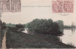 FRANCE - GARGENVILLE - Carte Postale - Type Sage 3c Paire Horizontal - Type Blanc 2c Brun Lilas Paire Horizontal - 1900-29 Blanc