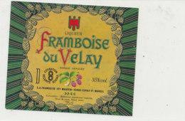 AN 1008 / ETIQUETTE - LIQUEUR  FRAMBOISE DU VELAY  -VEY MAURIN  (HAUTE LOIRE) - Etichette