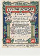 AN 1013 / ETIQUETTE - VIN TRI TONIQUE  AUBERY   LABORATOIRES AUBERY  AVIGNON   (VAUCLUSE) - Etichette