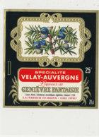 AN 1024 / ETIQUETTE    LIQUEUR DE GENIEVRE FANTAISIE    S A  FRAMBOISE   VEY- MAURIN       ESPALY  (HAUTE LOIRE ) - Labels