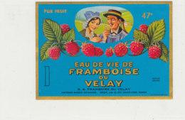 AN 1027 / ETIQUETTE   EAU DE VIE DE FRAMBOISE     S A  FRAMBOISE   VEY- MAURIN       ESPALY  (HAUTE LOIRE ) - Labels
