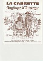 AN 1033 / ETIQUETTE    LA CABRETTE ANGELIQUE D'AUGERGNE  S A FRAMBOISE  DU VELAY      ESPALY   (HAUTE LOIRE ) - Labels