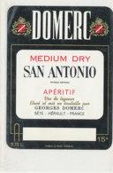 AN 1035 / ETIQUETTE    DOMERC  SAN ANTONIO  APERITIF  GEORGES DOMERC  SETE  HERAULT - Labels