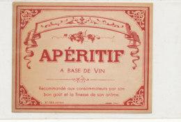 AN 1037 / ETIQUETTE     APERITIF A BASE DE VIN   N° 725 - Labels