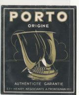AN 1039 / ETIQUETTE     PORTO   ETS HENRY  NEGOCIANTS A FRONTIGNAN - Labels