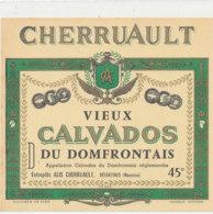 ET 839 / ETIQUETTE  -  VIEUX CALVADOS DU DOMFRONTAIS     ALIS CHERRUAULT  DESERTINES  (MAYENNE) - Labels