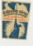 ET 842 / ETIQUETTE  -  CALVADOS VIEUX  DES CLOCHES DE CORNEVILLE  CHORT-MUTEL  DOMAINE DE LA MULOTIERE   (EURE ) - Labels