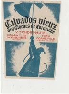 ET 843 / ETIQUETTE  -  CALVADOS VIEUX  DES CLOCHES DE CORNEVILLE  CHORT-MUTEL  DOMAINE DE LA MULOTIERE   (EURE ) - Labels