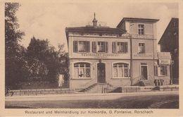 CP 1931 - Rorschach, St. Gallen, Schweiz - Restaurant, Weinhandlung Konkordia, Gaststättenkarte - SG St-Gall