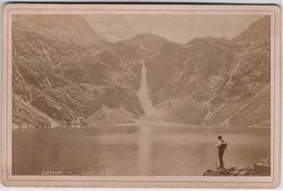 Photo Ancienne Sur Carton Luchone  (31)  Vue (circa 1880)  Sur Le Lac D'OO Par Phot Lafont - Fotos