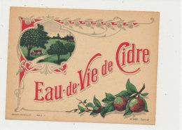 ET 849 / ETIQUETTE  -   EAU DE VIE DE CIDRE   N° 922 - Labels