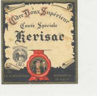ET 851 / ETIQUETTE  -   CIDRE  DOUX  CUVEE SPECIALE KERISAC   ETS GUILLET   GUENROUET   44 - Labels