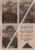 WIELERSPORT..1935.. RONDE VAN BELGIË VOOR ONAFHANKELIJKEN AANKOMST LEUVEN/ BEECKMAN / RENÉ SEGERS / MAURICE VAN HERZELE5 - Vecchi Documenti