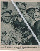 WIELERSPORT..1939.. HAASDONK MON DE LATHOUWER WON DE BEROEPSRENNERSKOERS VAN HAASDONK - Vecchi Documenti
