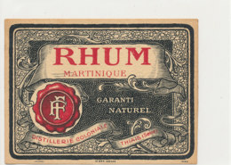 1223 / ETIQUETTE -   RHUM   -  MARTINIQUE  DISTILLERIE COLONIALE  THAIS ( SEINE  ) - Rhum