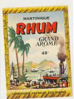 1224 / ETIQUETTE -   RHUM   -  MARTINIQUE GRAND AROME COMPAGNIE HAVRAISE  DES RHUMS - Rhum