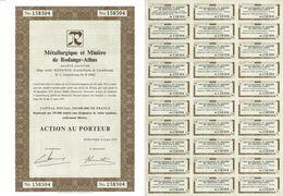 Titre Ancien - Métallurgique Et Minière De Rodange-Athus - Société Anonyme - Luxembourg - Titre De 1975 - Industrie