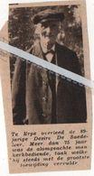 ERPE..1937.. DESIRE DE SADELEER  75 JAAR KERKBEDIENDE OVERLEDEN OP 89 JARIGE LEEFTIJD - Vecchi Documenti