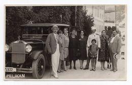 1940 YUGOSLAVIA,SLOVENIA,ROGASKA SLATINA,OLDTIMER MERCEDES CAR,PEOPLE SNAPSHOT,PELIKAN PHOTOSHOP,MILITARY UNIFORM - Fotos