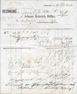 1873 HEIMAT ZÜRICH → Rechnung Johann Heinrich Müller Winterthur - Schweiz