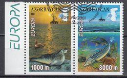 Azerbeidzjan  Europa Cept 2001  Type D Paar Gestempeld Fine Used - 2001