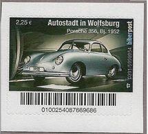 BRD - Privatpost Biberpost -  Autostadt Wolfsburg  - Auto Car Volkswagen - VW  - Porsche 356 (Wert: 2,25) - Private & Local Mails