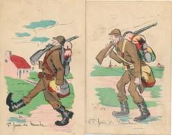 Belgisch Leger 1927 – Humor 4 Dagen Tocht – Groeten Uit 4 Plaatsen Naar Steenokkerzeel - Tessenderloo, O.L.V. Tielt, - Belgium