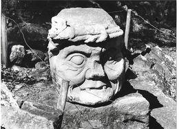 Photo Honduras Maya Tête Monumentale Sculptée à Copan Ph. Vivant Univers 2000 . - Lugares