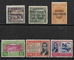 1928-35 Guatemala 6v Nuevos - Guatemala