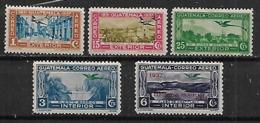 1937 Guatemala Paisajes 5v Nuevos - Guatemala