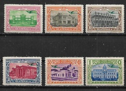 1939 Guatemala Edificios 6v Nuevos - Guatemala