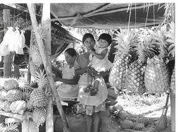 Photo Guatemala Petit Kiosque Improvisé Où Les Femmes Indigènes Vendent Des Fruits Ph. Vivant Univers 2000 . - Lugares