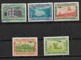 1939 Guatemala Edificios Y Paisajes 5v Nuevos - Guatemala