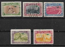 1939 Guatemala Edificios Y Paisajes 5v - Guatemala