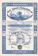Titre Ancien- Société Nationale Des Chemins De Fer Belges (SNCB) - Obligation De 1960 - Ferrocarril & Tranvías