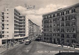 CT-03801- NAPOLI - VIALE MICHELANGELO DA PIAZZA BERNINI AUTO EPOCA FILOBUS VIAGGIATA 1955 - Napoli (Naples)